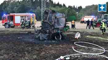 Feuerwehreinsatz In Der Gemeinde Ganderkesee: Ballenpresse fängt in Schweinsheide Feuer - Nordwest-Zeitung