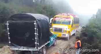 Derrumbes en la vía entre Pamplona – Cucutilla - Canal TRO