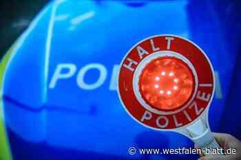Paderborn: Polizei zieht Autos aus dem Verkehr