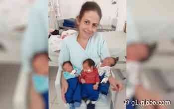 Mãe de duas adolescentes, professora dá à luz trigêmeos em Goiânia: 'Toda ajuda é bem-vinda' - G1
