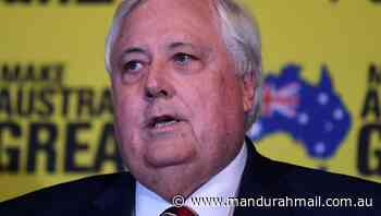 Palmer 'offered to drop WA border claim' - Mandurah Mail