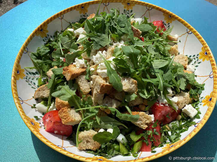 Cooking With Rania: Watermelon-Feta Salad And Greek-Style Panzanella Salad