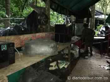 En Cumbitara, Nariño, destruidos dos potentes megalaboratorios para procesar coca - Diario del Sur