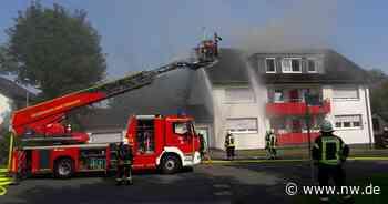 Neun Verletzte bei Wohnhausbrand in Bad Driburg - Neue Westfälische