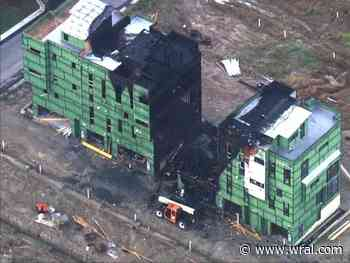 Large fire destroys luxury townhomes under construction in Durham