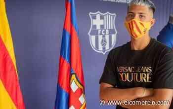 El zaguero ecuatoriano Diego Almeida completó su primer entrenamiento con el Juvenil A del FC Barcelona