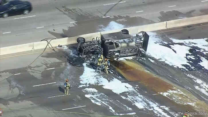 Fuel Truck Driver Dies After Fiery Crash On Highway 75 In Richardson