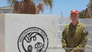 Muswellbrook's Australian Army Reservist Sergeant Darrell Byron deployed to the Sinai on Operation Mazurka, as part of the Multinational Force and Observers - Muswellbrook Chronicle