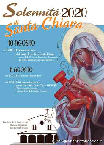 Programma solennità di Santa Chiara 2020 - San Giovanni Rotondo Free