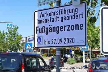 Ab Montag gibt es in Weil am Rhein eine Fußgängerzone - Weil am Rhein - Badische Zeitung
