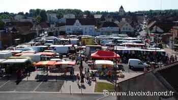 Le port du masque obligatoire sur le marché du mercredi à Barlin - La Voix du Nord