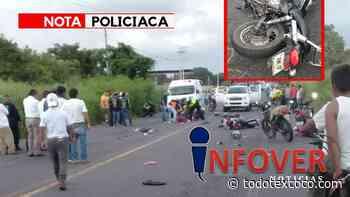 Mueren motociclistas en El Nanche, municipio de Cuitlahuac. [Imágenes fuertes] - Noticias de Texcoco