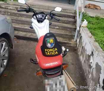 PM localiza em Itabaiana motocicleta com chassi adulterado e detém dupla que trafegava com ela - Portal Itnet