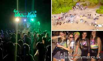 Footage shows hundreds of partygoers at beach party in Wangetti Beach, Cairns despite COVID-19 - Daily Mail