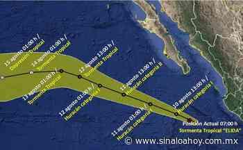 Este es el último reporte del progreso del Huracán Elida - Sinaloahoy