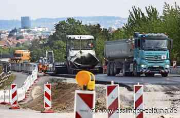 Autobahn-Anschlussstelle Esslingen wird umgebaut: Bahn beendet Sperrung vorzeitig - esslinger-zeitung.de