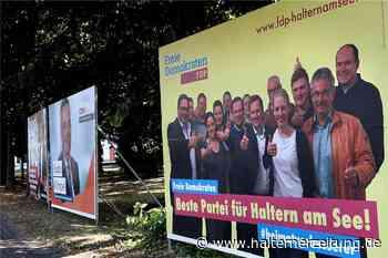 Wahlplakate der Parteien sind in Haltern beschmiert worden - Halterner Zeitung