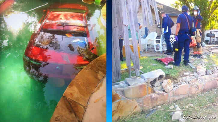 Suspected Drunk Driver Crashes Through Fence, Into Backyard Swimming Pool In Arlington