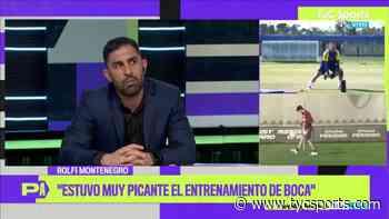 """El Rolfi Montenegro y el entrenamiento de Boca: """"Estuvo re picante"""" - TyC Sports"""