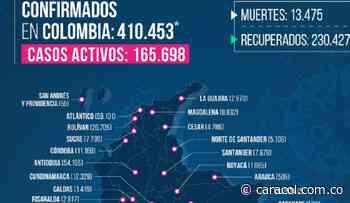 Récord de contagiados en Santander: 720 nuevos casos - Caracol Radio