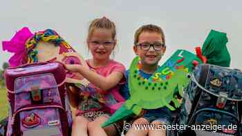 I-Dötzchen Zwillinge aus Werl freuen sich auf den ersten Schultag - Soester Anzeiger