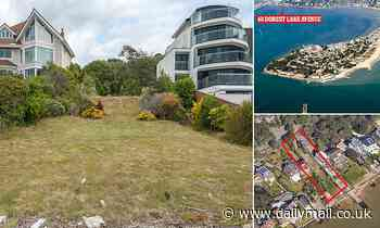 Empty plot of land overlooking Poole Harbour on sale for £3.5m