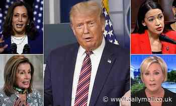 Donald Trump slams Kamala Harris and other female 'enemies'