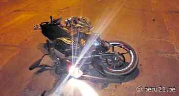 Junín: Policía fallece tras impactar su motocicleta con un auto en Huancayo - Diario Perú21