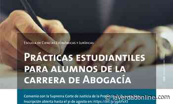 Prácticas para estudiantes de Abogacía - Diario La Verdad Junín
