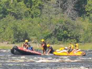 Three rescued from Deschênes Rapids after personal watercraft hits rocks