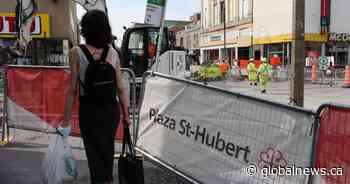 Plaza Saint-Hubert merchants feel supported while dealing with construction, coronavirus woes - Global News