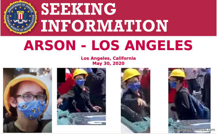 FBI Seeking Woman In Arson Of LAPD Squad Car During George Floyd Protests