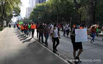 """""""CNTE en pie de lucha"""": maestros protestan en el Ángel de la Independencia - Milenio"""