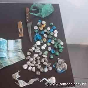 Preso suspeito de tráfico de drogas em Santa Helena - FolhaGO