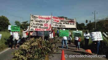 Bloqueo en Calatrava, Palenque - Diario de Chiapas