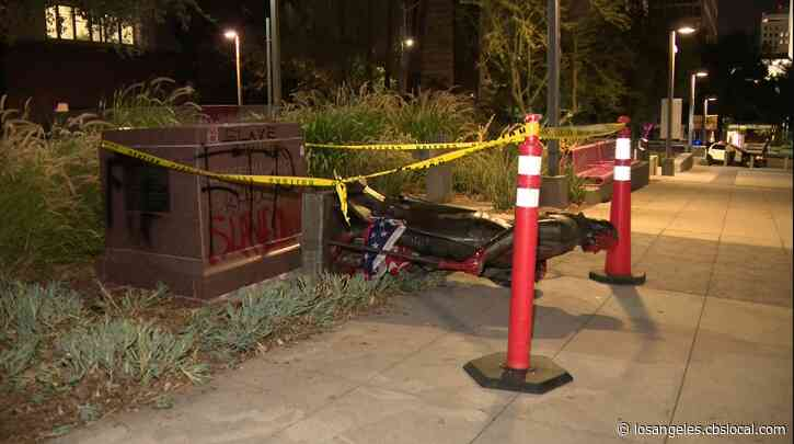 7 Arrested After Statue Of George Washington In Grand Park Torn Down