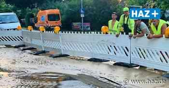 Burgwedel: Wasserrohrbruch bei Bauarbeiten für Glasfaser in Thönse - Hannoversche Allgemeine