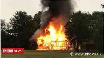 Barton Stacey sports pavilion destroyed by 'lightning strike'