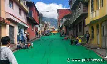 Aficionados de Marquense preparan una manta gigante para apoyar al equipo - Publinews Guatemala