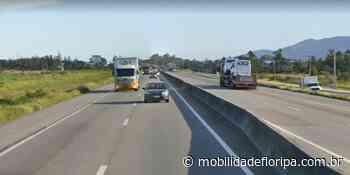 Veículo capota e interdita BR-101 em Laguna - Mobilidade Floripa