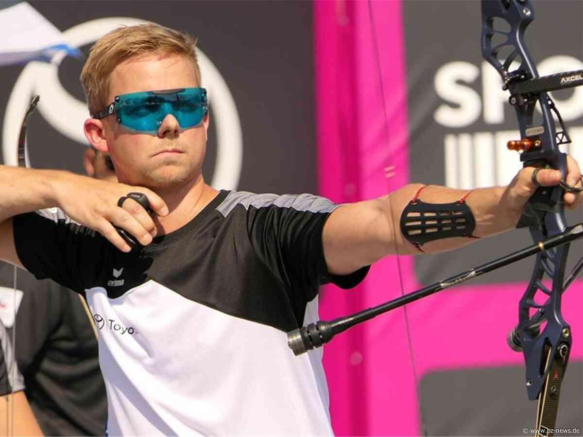 Auf Olympiakurs: Cedric Rieger vom SSV Karlsbad siegt im Deutschland Cup der Bogenschützen - Sport - Pforzheimer Zeitung