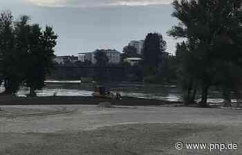 Nach Hochwasser: Sand wird zurück in den Inn geschoben - Passauer Neue Presse