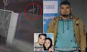 Argentine cops arrest man seen on video dumping his girlfriend's body after 'choking her to death'
