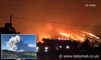 Frightening moment 'Firenado' forms in Los Angeles as wildfires burn through Southern California