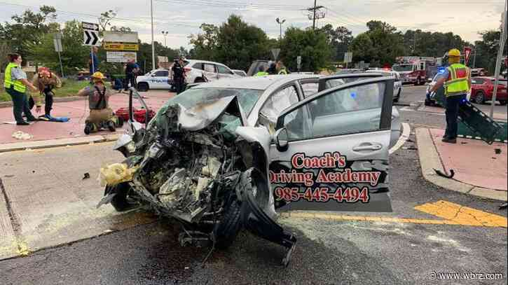Student driver and instructor in critical condition after head-on collision; police arrest suspected impaired driver