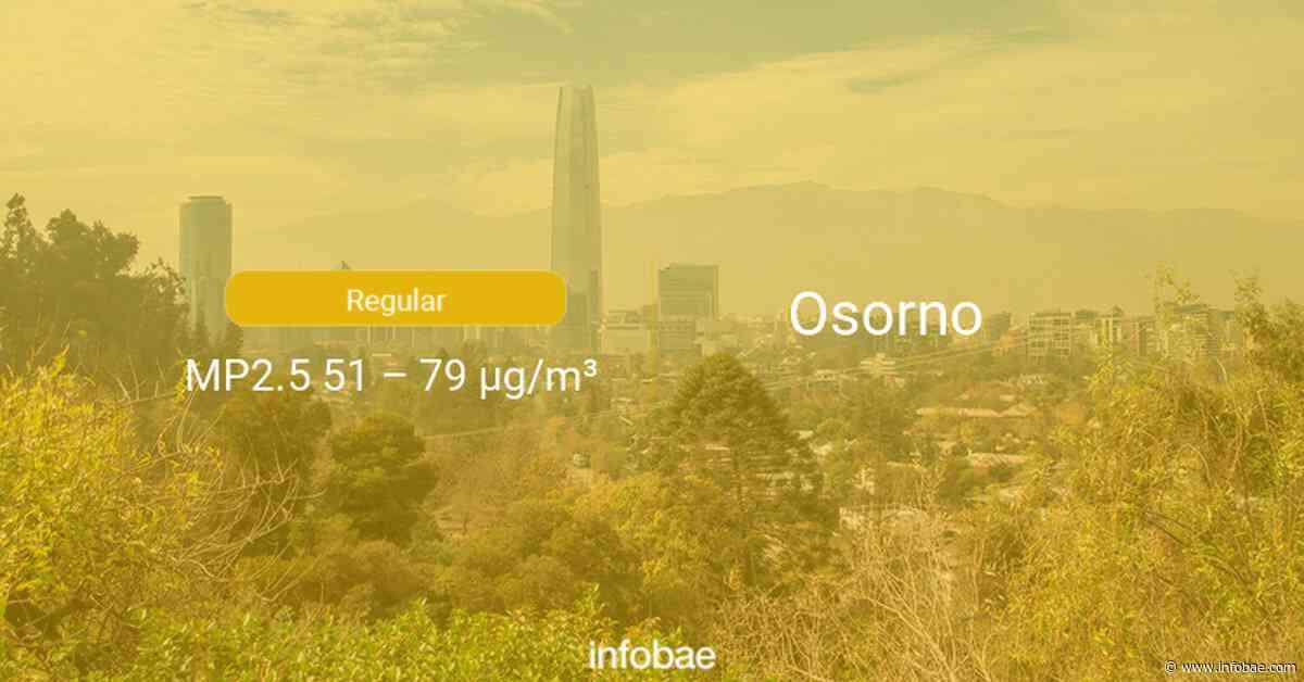 Calidad del aire en Osorno de hoy 14 de agosto de 2020 - Condición del aire ICAP - infobae