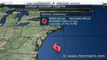 Tropical Storm Josephine Moving North; TS Kyle Forms Near Mid-Atlantic Coast
