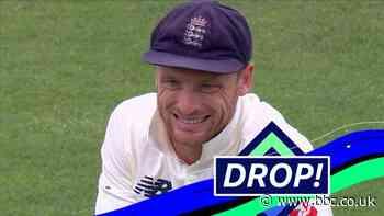 England v Pakistan: Jos Buttler misses Rizwan catch - BBC News