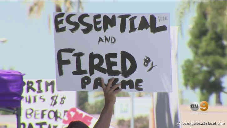 'I'm Ready To Work': Laid Off Workers Protest Outside Lynwood Hospital Claiming New Ownership Is Compromising Patient Care