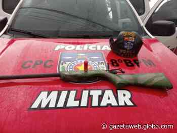 Após denúncia, dupla é presa com espingarda artesanal em Satuba - Gazetaweb.com